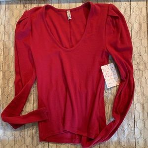 Free People Intimately Long Sleeve Tee NWT